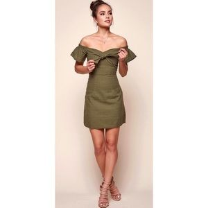 Dresses & Skirts - NWT Tie Front Off The Shoulder Mini Dress